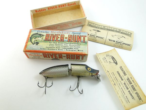 Heddon 9430 XRS Jointed River Runt Spook Floater Fishing Lure EX IN BOX