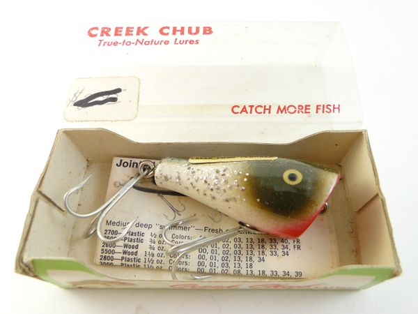 Creek Chub 5918 Silver Flash Midget Plunker NEW UNUSED IN BOX!
