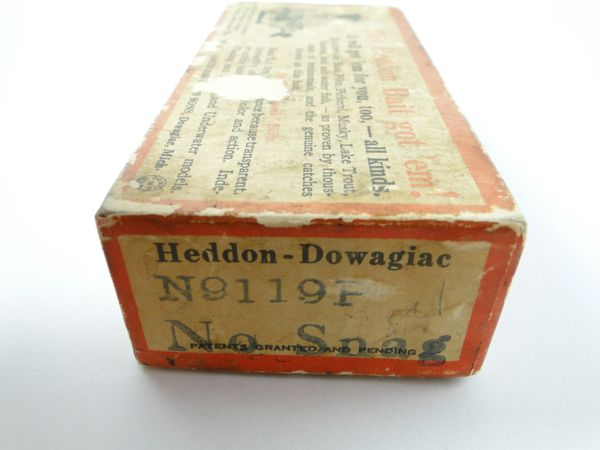 Heddon No Snag River Runt N9119 P Shiner Scale BOX ONLY