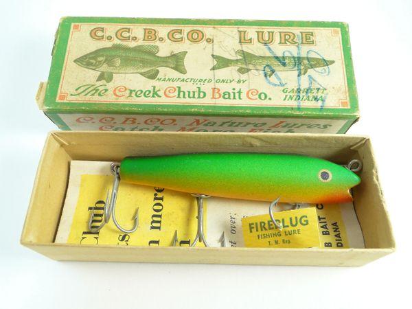 Creek Chub 2032 Darter RAINBOW FIRE EX+ in TOUGH LABEL Box