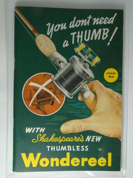 Shakespeare 1940 Fishing Tackle Sales Catalog Like NEW!