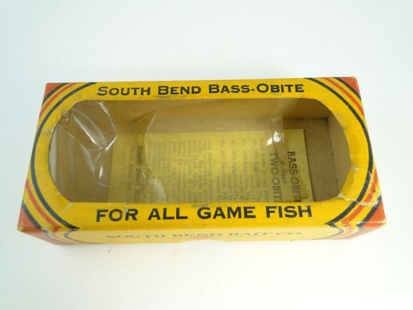 South Bend 1973 Bass Obite MS Minnow Scale Box and Papers
