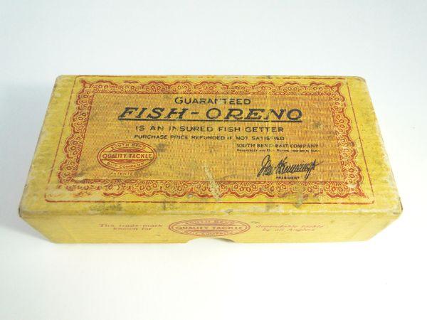 South Bend Fish Oreno 953 RW Early Box Glass Eye Model Fishing Lure