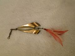 J.T. Buel Metal #1 Spinner Bait with Feathered Treble Hook