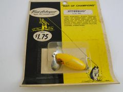 SOLD!!! Fred Arbogast 1/4 OZ. JITTERBUG NEW in RARE BUBBLE PACK