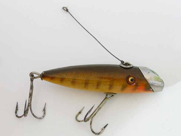 South Bend Fish Oreno 953 P Pike Scale Finish Wood Fishing Lure