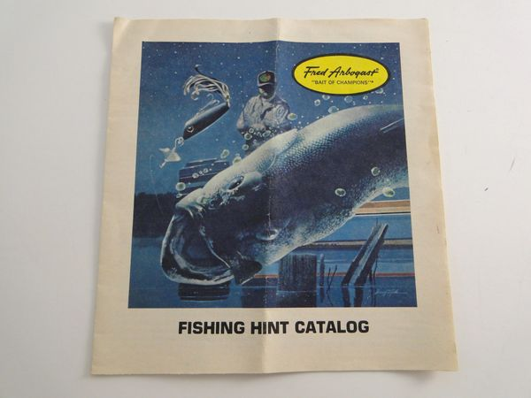 Fred Arbogast Fishing Hints Foldout Booklet