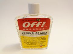"OFF Glass Bottle of Orginal Bug Repellant ""KEEPS BUGS AWAY"""