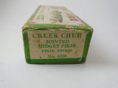 Creek Chub 4200 Jointed Midget Pikie Fishing Lure Label End Box