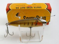 South Bend Fish Oreno 953 P Pike Scale Finish Wood Fishing Lure NIB