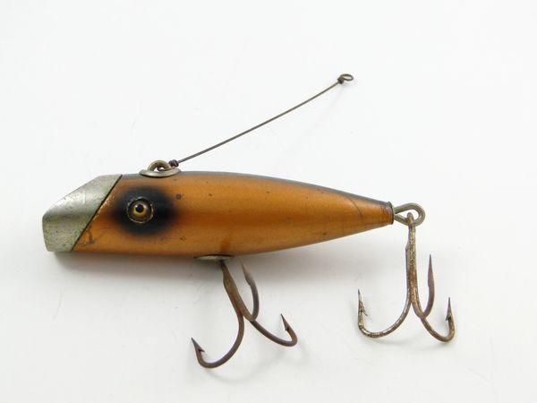 South Bend Fish Oreno 953 C Copper Finish Wood Fishing Lure