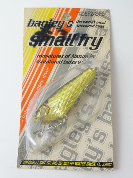 Bagley's Small Fry Shad Gold Foil New in Package
