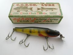 SOLD!!! Creek Chub Pikie 701 in Perch with Correct Label End Box