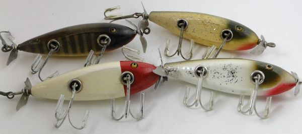 Creek Chub INJURED MINNOW Fishing Lures x4