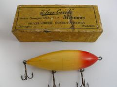 Silver Creek Novelty Works Sea Gull Model 204 Fishing Lure RARE in Box Pre-Moonlight period Early 1900's