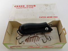 Creek Chub Grey/Black Field Mouse Plus BOX 6577G & Papers