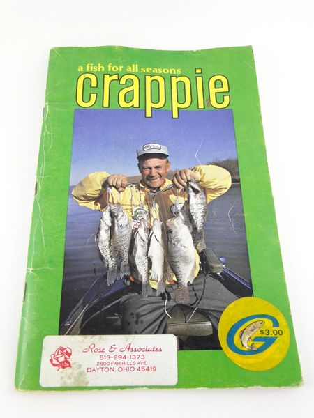Crappie Fishing Book 80 Pages Vintage
