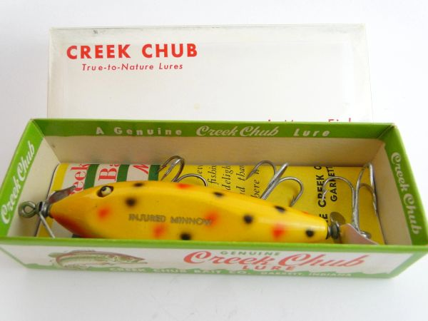 Creek Chub Injured Minnow Model 1514 New In Box! + Catalog