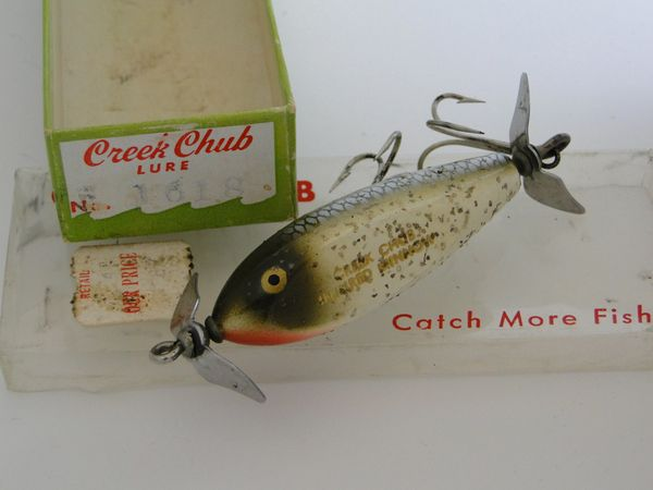 Creek Chub 1618 Silver Flash BABY INJURED MINNOW with Painted Eyes NIB!