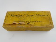 Moonlight Brand Over Label SEAGULL Box Dowagiac Michigan Stamped 2111 RARE BOX