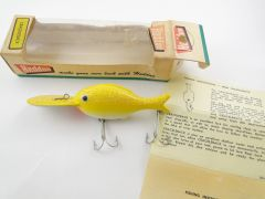 "Heddon Crackleback Lure Model 8050 WYC 4-1/2"" Fishing Lure EX"
