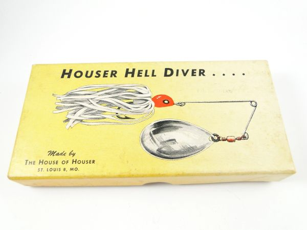 Houser Hell Diver Fishing Lure Box & Papers with Insert