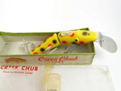 Creek Chub DEEP DIVE Yellow Spot 2614 EX- IN BOX! Black Eyes Nice Combo