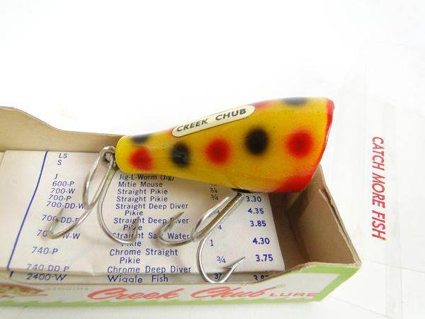 Creek Chub 5914 Midget Plunker in Correct? Box Stamped 3214 W