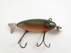 SOLD!!! Creek Chub Deluxe Wagtail Model 805 Redside Wood Glass Eye Fishing Lure