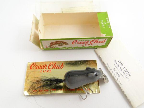 Creek Chub 600 G Grey Field Mouse NEW IN BOX w/ RARE Card