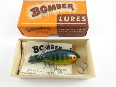 Bomber Lures Small Wood Bomber in Perch APPEARS UNFISHED