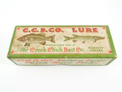 SOLD!!! Creek Chub Box Stamped 6213 for ALL BLACK Plunking Dinger