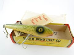 South Bend Be Bop 903 SFS Scale Finish Green with Silver Speckles NEW in BOX & Paper Catalog