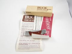 Buck Knight Knife Model 505 New Old Stock in Box + Paper Work