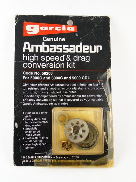 ABU GARCIA High Sd & Drag Conversion Fishing Reel Parts 5000C 6000C on
