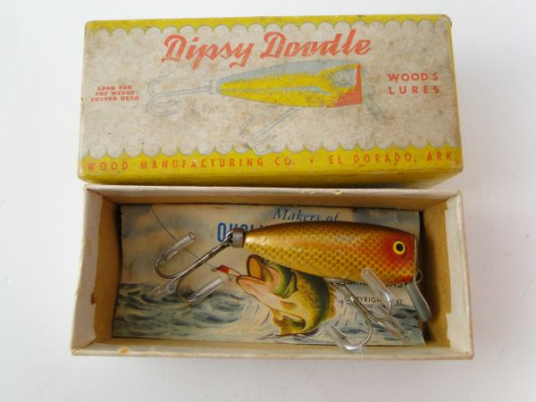 Woods Dipsy Doodle model 511 GOLDFISH fishing Lure in Box with Papers