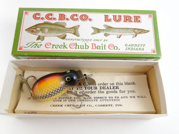 SOLD!!! Creek Chub Tiny Tim in White Scale model 6425 Fishing Lure NEW in BOX