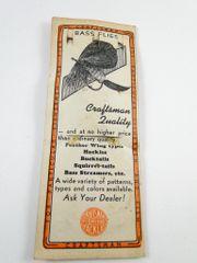 GLEN EVANS Craftsman Bass Flies Advertising Package with Snelled Hooks Vintage