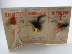 WORTH Fishing Tackle Bass Poppers NEW OLD STOCK on card
