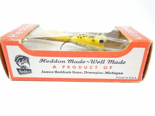 Heddon Fly Rod YELLOW Frog Model 85 YF Pop Eye NEW OLD STOCK IN BOX