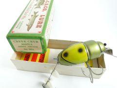 Creek Chub 3851 Beetle GREEN YELLOW NEW IN LABEL BOX
