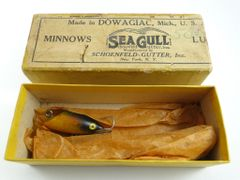 Moonlight Seagull Over Labeled Silver Creek Box with Model 403