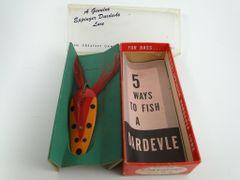 Genuine Dardevle Spoon NEW IN BOX + PAPERS