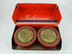 Shakespeare Super SILK Line on Wood Spool Vintage Twin Pack