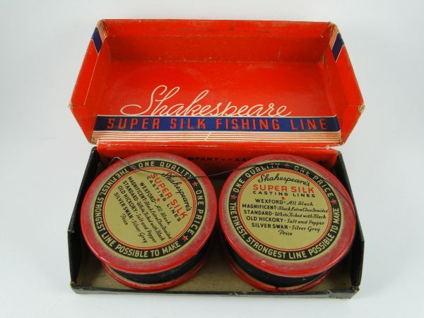 Shakespeare Super SILK Line on Wood Spool Vintage Twin Pack