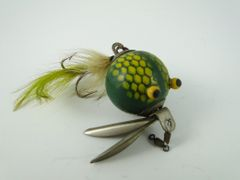 Worth Flutter Fin Vintage Fishing Lure Stevens Point Wisconsin early 1960's