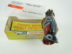 Fred Arbogast Hula Popper 3/8 oz. REDWING BLACKBIRD Seein's Believin' Finish! Color 273 Model 760 New In the Correct Box with Papers