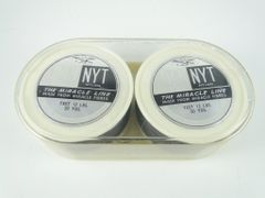 US Line Co. Westfield Massachusetts The Miracle Line DAN NYT Nylon NEW OLD STOCK 12lb 100 Yards; 2- 50 yard spools joined