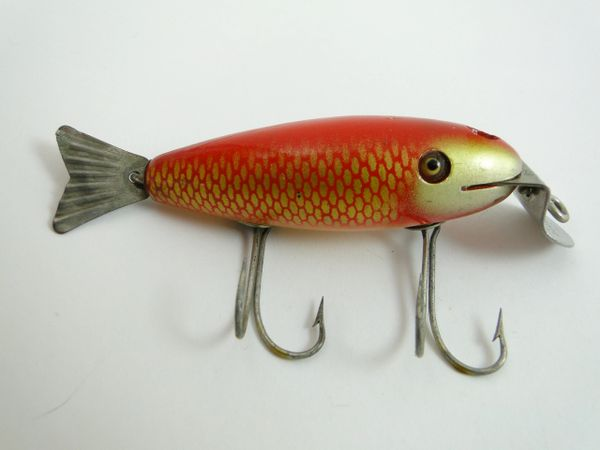 Creek Chub Deluxe Wagtail Goldfish Model 806 Glass Eye Fishing Lure