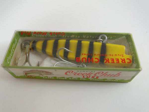 Creek Chub 1839 WOODEN WIGGLE DIVER Tiger Stripe NEW IN BOX!!